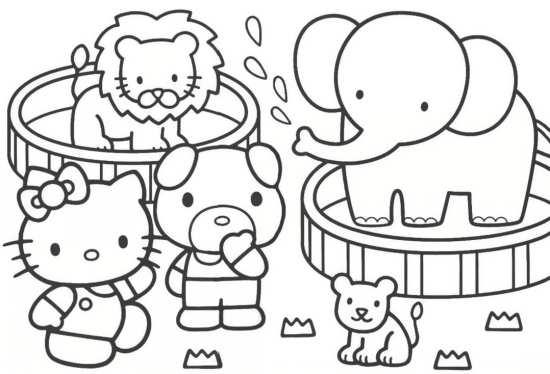 نقاشی کیتی خانم و دوستانش