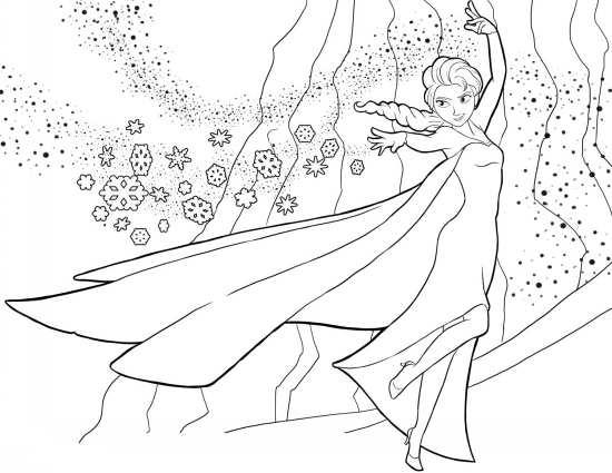 نقاشی ملکه یخی برای کودکان دختر