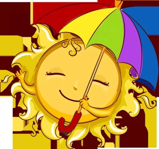 نقاشی خورشید خانم و چتر