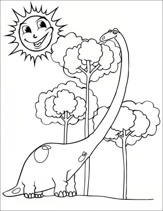نقاشی خورشید و دایناسور