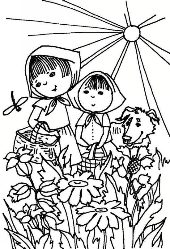 نقاشی زیبا کودکان و خورشید