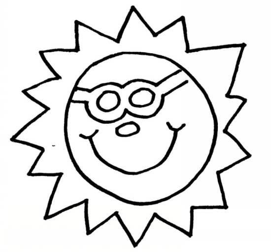 نقاشی خورشید با نمک