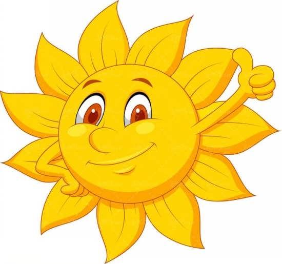 نقاشی و رنگ آمیزی خورشید برای کودکان
