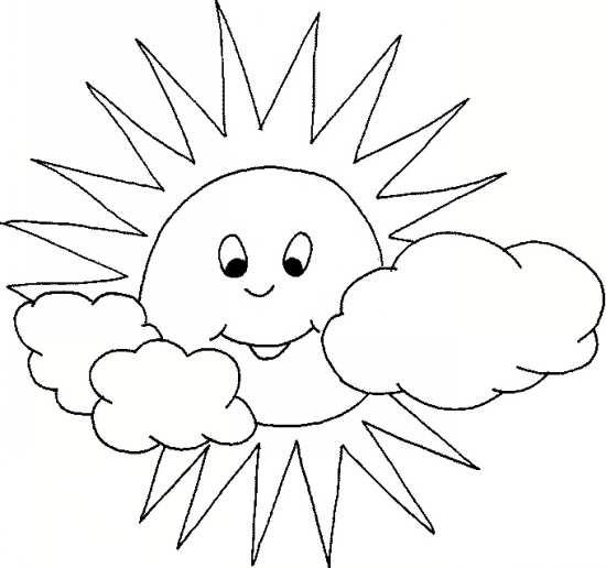 نقاشی ابر و خورشید