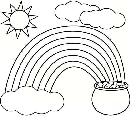 نقاشی رنگین کمان و خورشید
