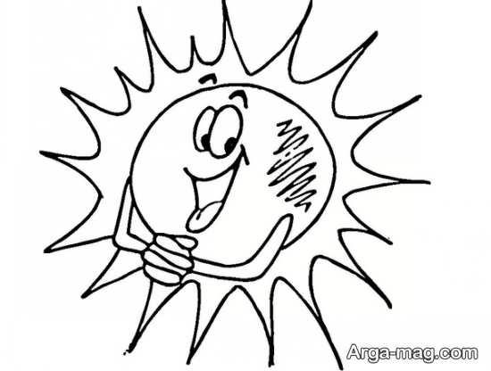 طراحی خورشید کودکانه
