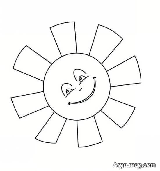 نقاشی خورشید فانتزی و ساده