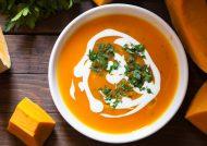 طرز تهیه سوپ کدو حلوایی در خانه