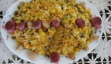طرز تهیه لوبیا پلو با مرغ خوشمزه