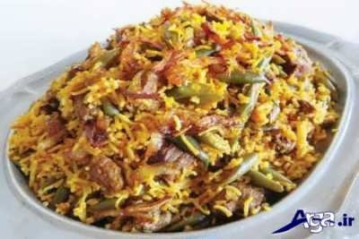 دستور پخت لوبیا پلو با مرغ