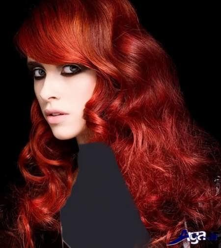 فرمول رنگ موی قرمز آتشی