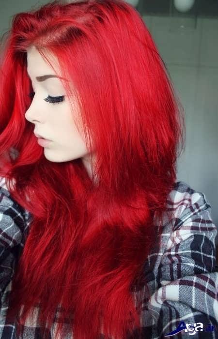 رنگ موی زیبا و فانتزی قرمز