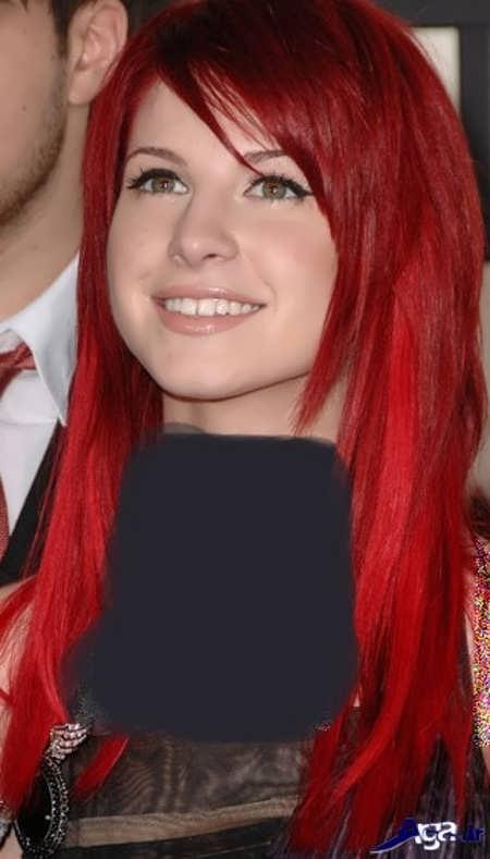 رنگ موهای زیبا و متفاوت قرمز