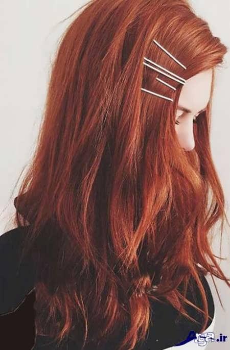 رنگ موی قهوه ای با تم قرمز