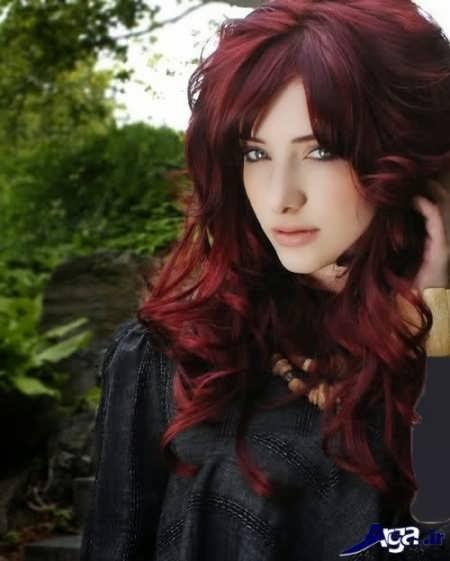 رنگ مو قرمز تیره