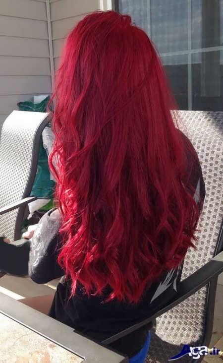 رنگ موهای قرمز با دکلره و بدون دکلره