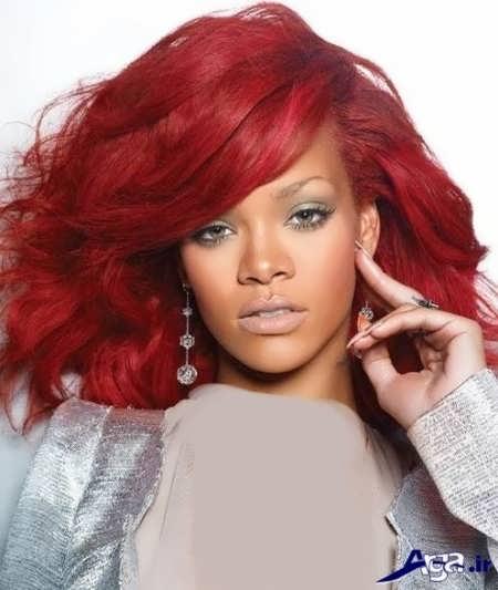رنگ موی زیبا و جدید قرمز