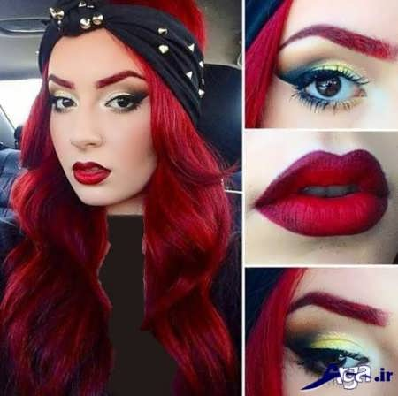 رنگ موی قرمز زیبا