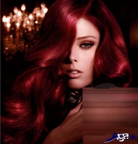 رنگ موی قرمز بدون دکلره