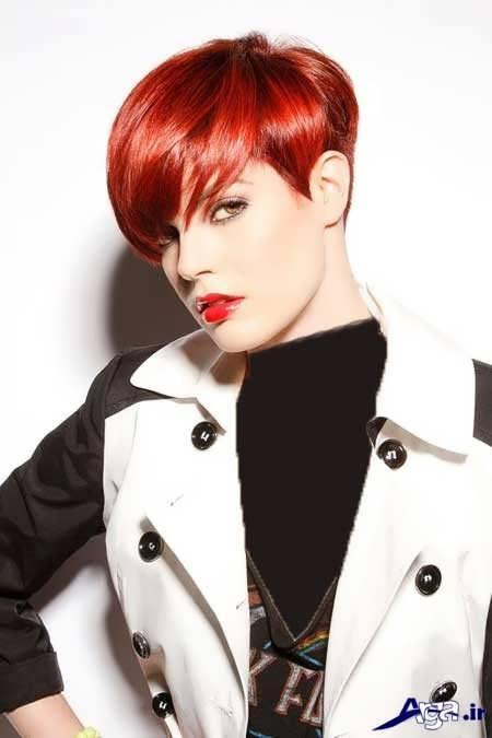 رنگ مو قرمز برای موهای کوتاه