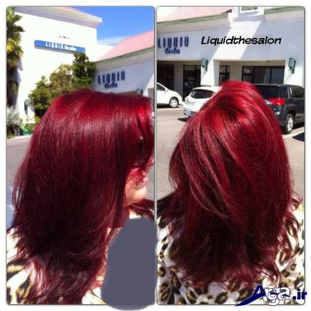 رنگ مو قرمز آلبالویی