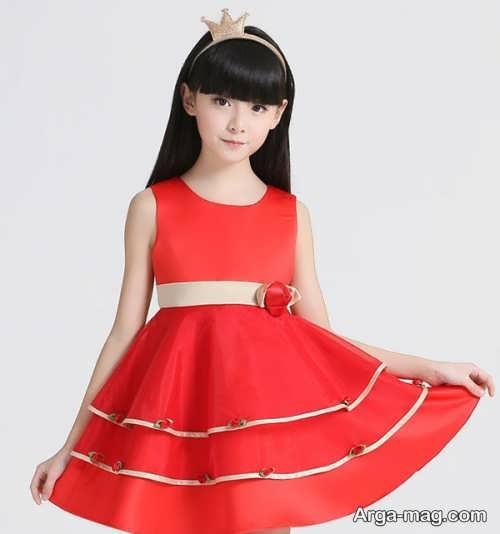 انواع لباس ساتن زیبای دخترانه