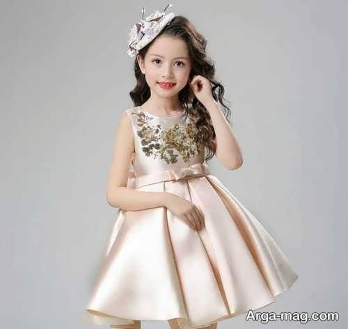 لباس ساتن بچه گانه قشنگ