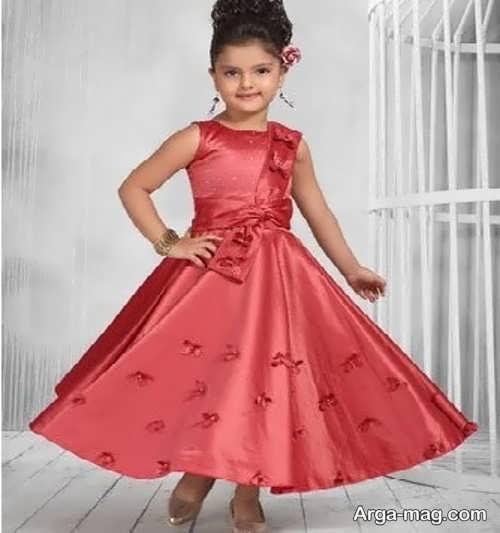 انواع لباس ساتن بی نظیر دخترانه
