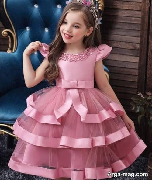 انواع لباس ساتن دوست داشتنی دخترانه