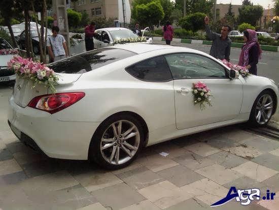 ماشین عروس با تزیینات زیبا و متفاوت