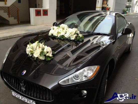 ماشین عروس با تزیینات ساده