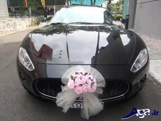 تزیین ماشین عروس با ابده های ساده