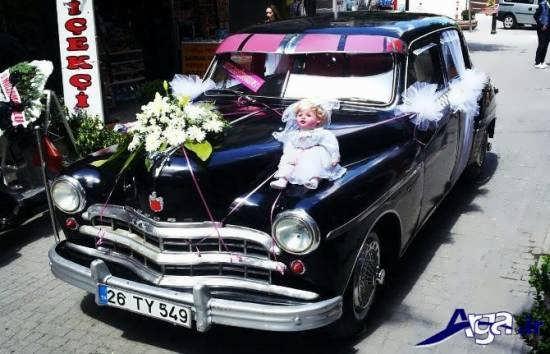 تزیینات ساده برای ماشین عروس