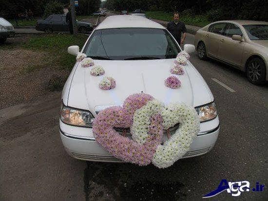 تزیین زیبا و متفاوت ماشین عروس