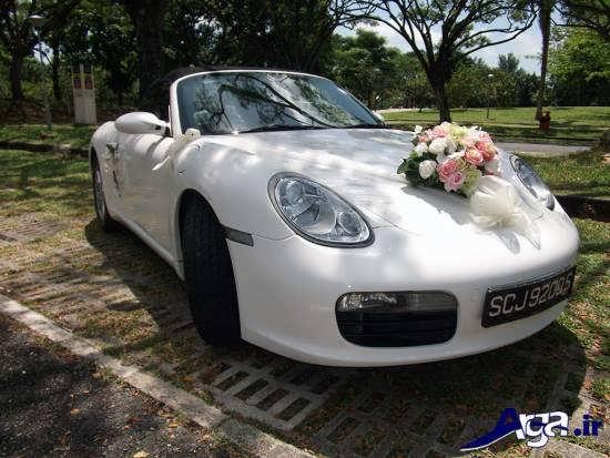 ماشین عروس ساده با تزیین های شیک و متفاوت