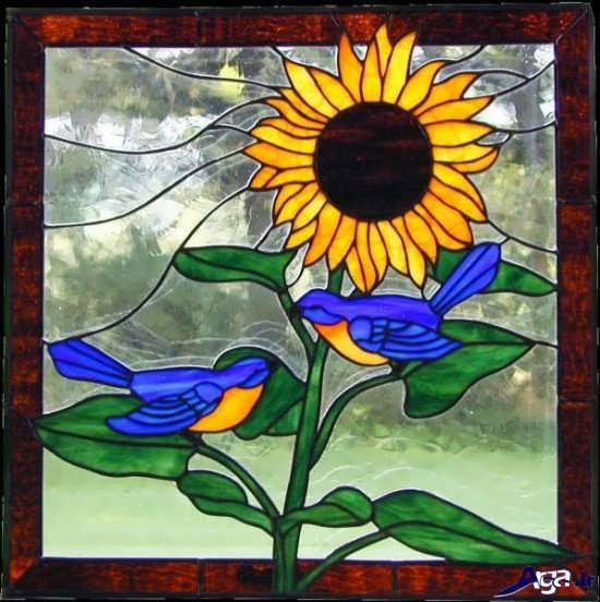 مدل زیبای نقاشی روی شیشه های ساده