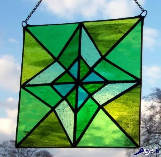 نقاشی روی شیشه ساده