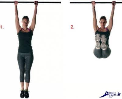 کشیدن بدن به سمت بالا برای افزایش قد
