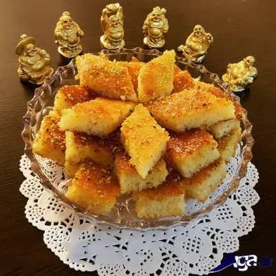 کیک شربتی
