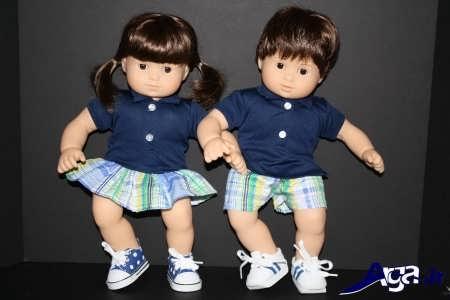 مدل لباس نوزادان دوقلو