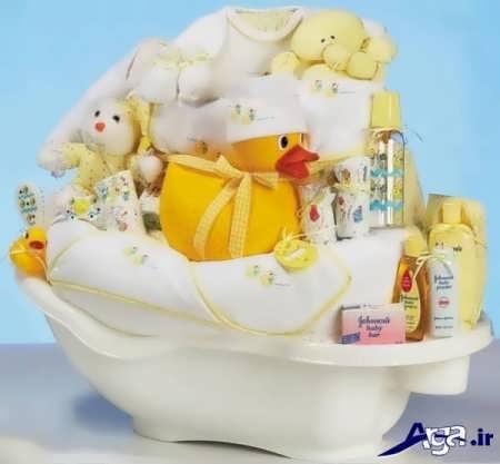 تزیین سرویس حمام نوزاد