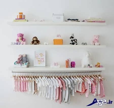 نحوه چیدمان لباس نوزاد