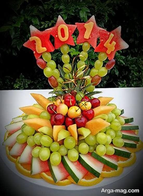 تصاویری از میوه آرایی روی میز