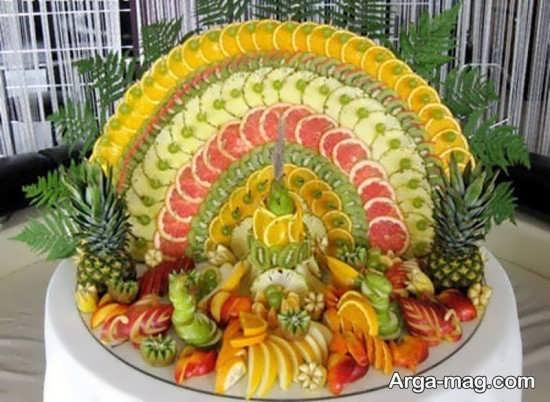 مدل تزیینات میوه روی میز