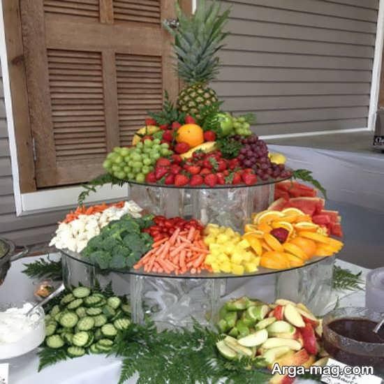 تزیینات زیبای میوه روی میز