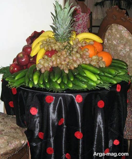 تزیین شکیل میوه روی میز