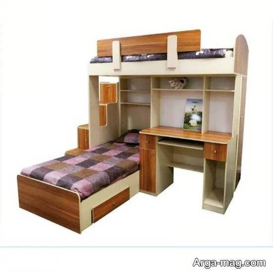 تخت خواب نوجوان دو طبقه