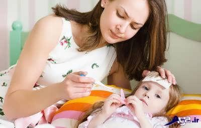 عوامل ایجاد تب در کودک