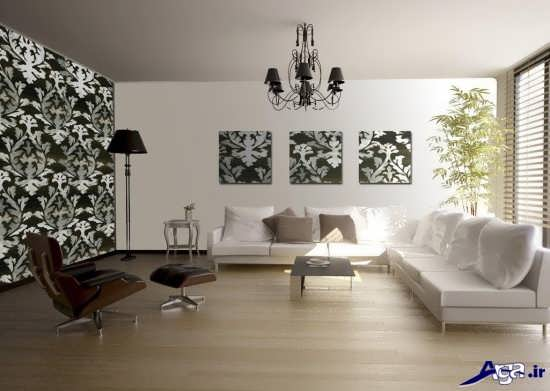 کاغذ دیواری پذیرایی جدید و مدرن