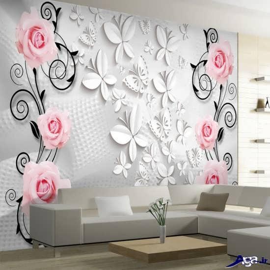 مدل کاغذ دیواری پذیرایی جدید